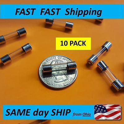 - 10pcs -- Fast Blow 5x20 glass fuse - 120v 220v 240v 125v ---- 5A AMP - Fast SHIP