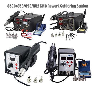 853 858 898 852D Soldering Rework  Soldering Station Solder Iron Smd Hot Air Gun