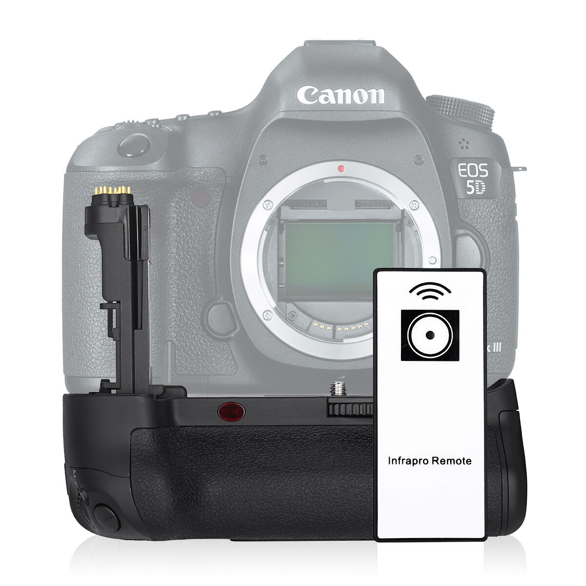 DBK Vertical BG-E11 Battery Grip For Canon EOS 5D 5DS Mark III Camera + IR Remote