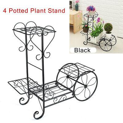 4 Tier Plant Stand Display Shelf Planter Flower Pot Rack Garden Patio