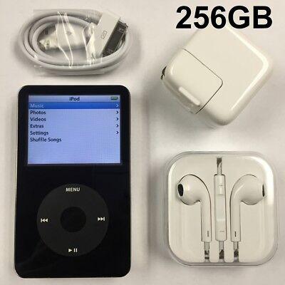 160 Gb Ipod Video - iPod Video Black 5.5G 5th Generation Black Classic SSD Wolfson DAC 160GB 256GB