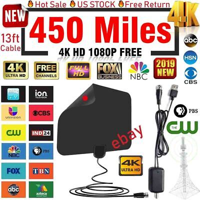 2018 NEWEST HDTV ANTENNA BEST 450 MILE LONG RANGE LESOOM INDOOR TV DIGITAL HQ
