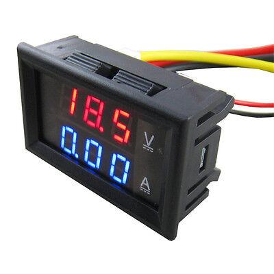 DC 0-100V 10A Digital Voltmeter Amperemeter Ammeter LED Spannungsmesser TE192 DE