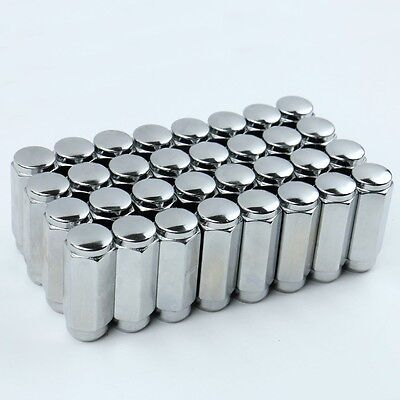 "32 Acorn Lug Nuts 9/16 Thread 7/8 HEX 2.38"" Tall For Dodge Ram 2500 3500"