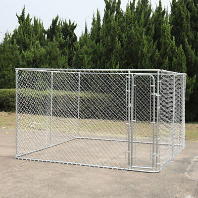 Durable Metal fences 10'x10' Outdoor Large Dog Kennel Cage Pet Pen Run House