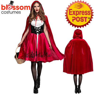 K552 Ladies Deluxe Little Red Riding Hood Book Week Fairytale Dress Up Costume ()