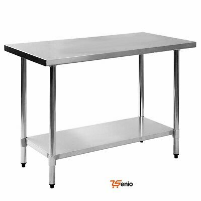 Large Food Prep Table Stainless Steel Kitchen Commercial Restaurant 24x48x36
