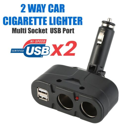 2 Way Multi Socket Car Cigarette Lighter Splitter USB Plug Adapter Charger Cell Phone Accessories