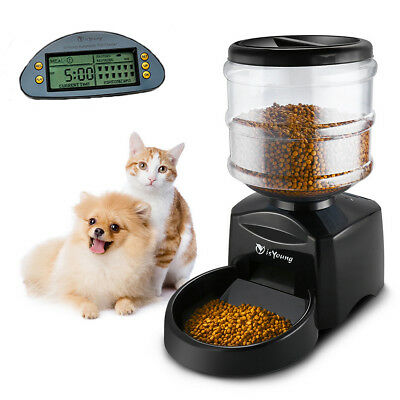 5.5L Automatic Pet Feeder Dog Cat Programmable Food Bowl Dispenser LCD Display
