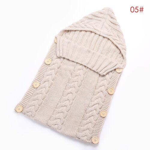 Newborn Baby Infant Knit Crochet Swaddle Wrap Swaddling Blanket Sleeping Bag