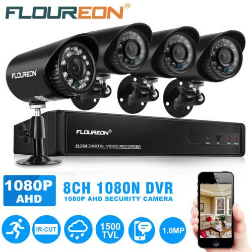 4/8CH 1080N 5 IN 1 AHD DVR Outdoor 1500TVL CCTV Camera Secur