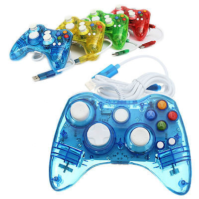 LED Glow USB Wired / Wireless Game Controller For Microsoft Xbox 360 &PC Windows (Glow Controller)