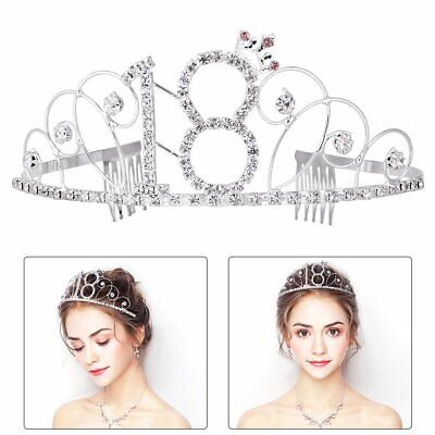 Birthday Crown Rhinestone Tiara Happy 18Th As Shown Toys & Games