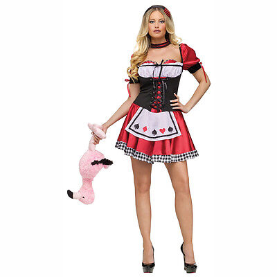 Queen of Hearts Sexy Womens Adult Costume Fun World 121834](Queen Of Hearts Costume Adults)