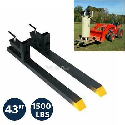 1500 Lbs Bucket Clamp On Pallet Forks Loader 43 Skid Steer Tractor Quick Attach
