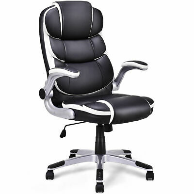 Pu Leather High Back Executive Office Chair Swivel Desk Task Computer Ergonomic