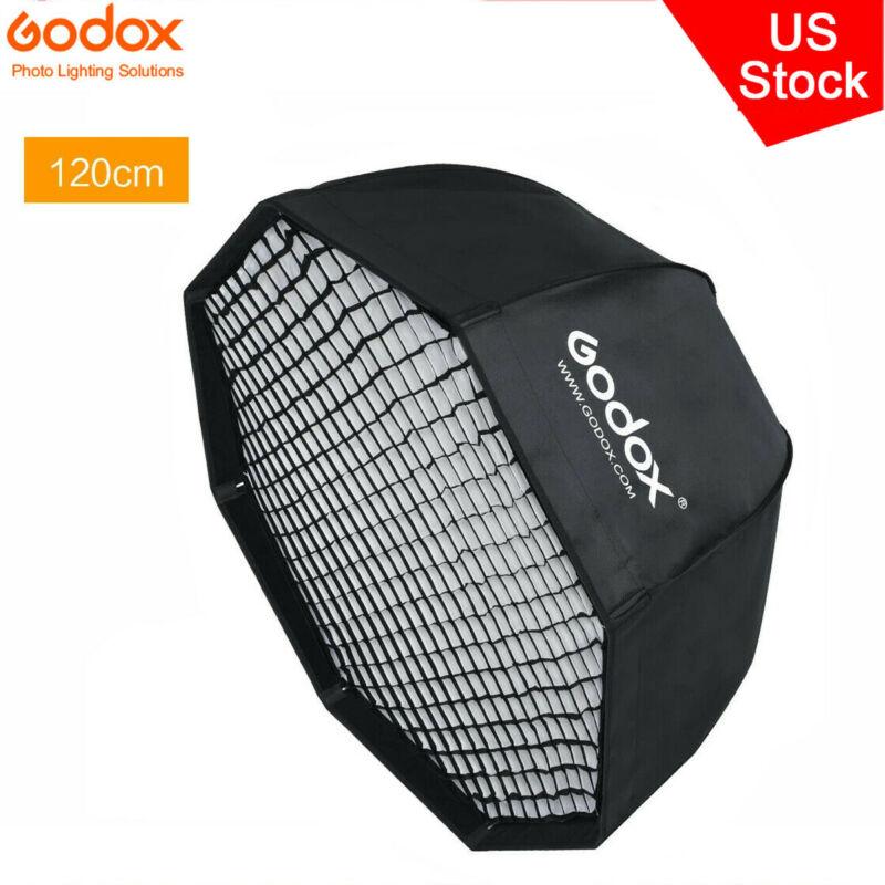 "US Godox 47"" 120cm Octagon Umbrella Softbox With Grid for Studio Flash Monolight"