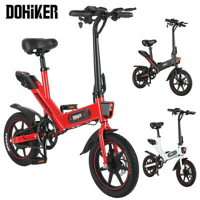 DOHIKER Folding Electric Bicycle Bike 350W 36V Waterproof E-bike 14 inch Wheel