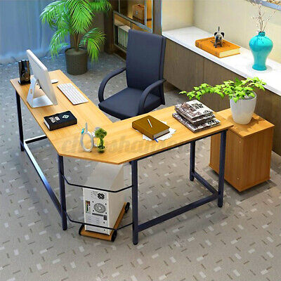 L-shaped Corner Computer Desk Home Office Study Gaming Laptop Workstation Table