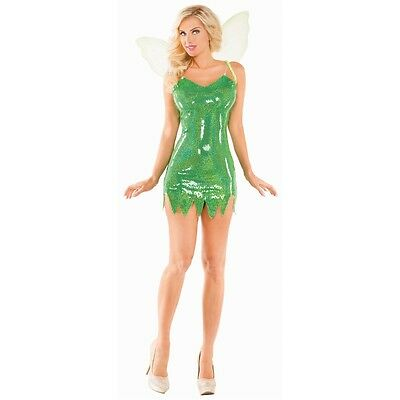 Sexy Tinkerbell Costume Adult Fairy Halloween Fancy Dress