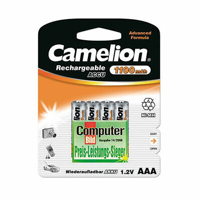 4x Camelion Akku AAA Micro 1100mAh NiMH Blister wiederaufladbare Batterien Accus
