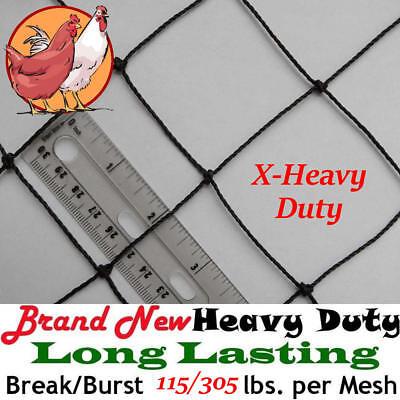 Poultry Netting 100 X 150 X-heavy Knotted 2 Mesh Aviary Bird Net Polyethylene