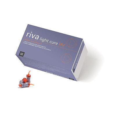 Dental Sdi Riva Lc Hv Light Cure Glass Ionomer Capsules - A2 Color -