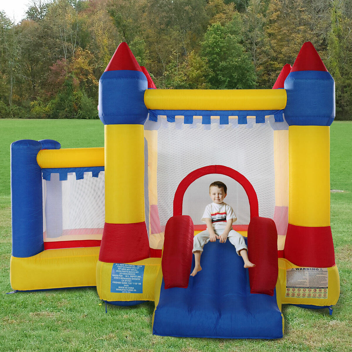 Inflatable Bounce House Castle Kids Jumper Moonwalk Slide Bo