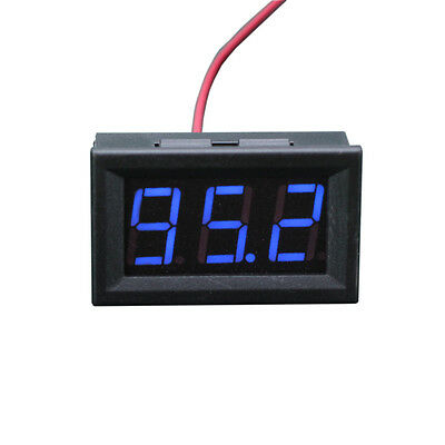 1X Mini Dc 5 120V  Voltage Volt Meter Voltmeter Blue Led Panel 3 Digital Display