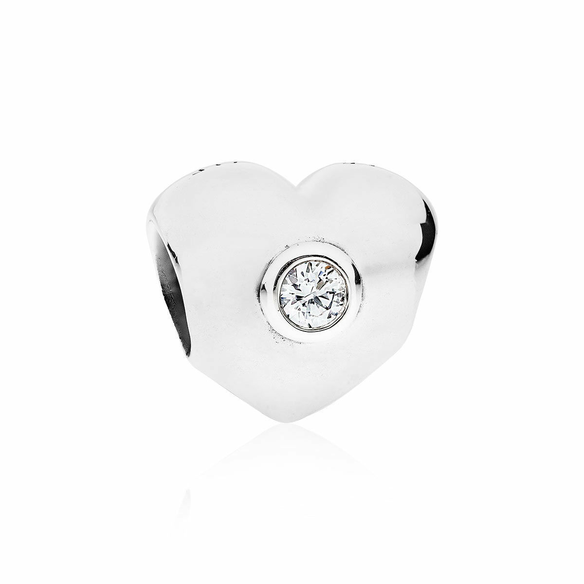 215203722 Details about Genuine PANDORA Clear Sparkling Heart,Silver & Clear CZ Charm  790134CZ - RRP £40