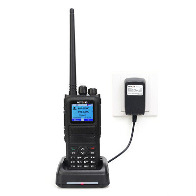 Retevis RT84 walkie talkie 5W Dual Band SMS DMR Digital/Analog Two Way Radio