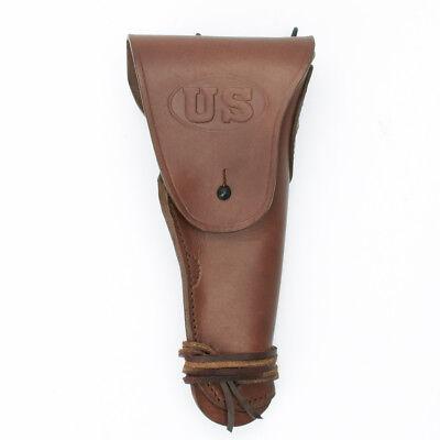 U.S. WWII M1911 .45cal  Brown Leather Hip Holster Embossed U
