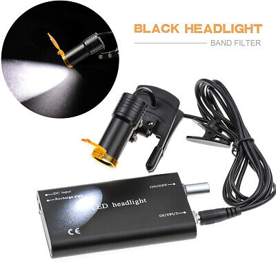 Dental Surgical 5w Led Headlight With Filter Plastic Clip Type For Dentist Black