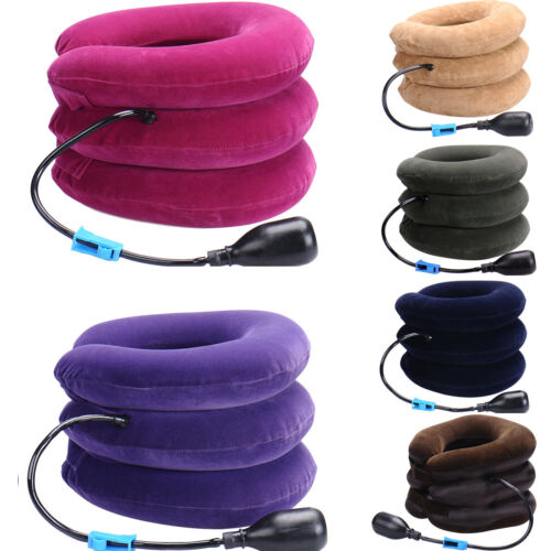 Air Neck Inflatable Pillow Cervical Shoulder Traction Suppor