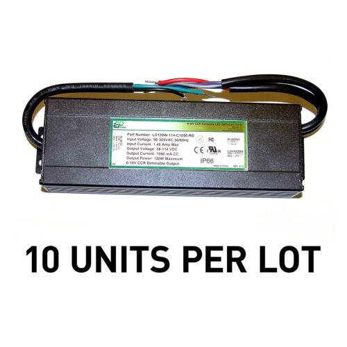 [LOT OF 10] NEW EPtronics 120W LED Drivers Constant Current 1050mA 0-10V Dimming