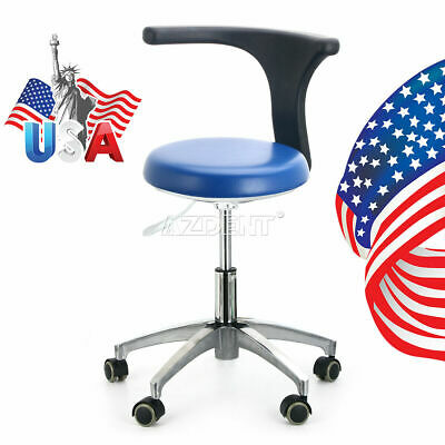 Dental Assistant Stool Adjustable Mobile Chair Pu Hard Leather Dentist Doctor