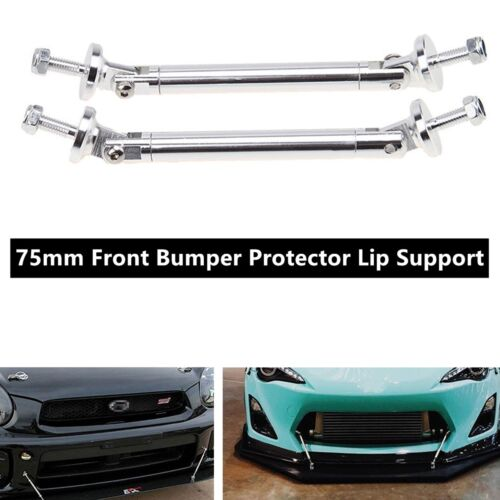 New 1 Pair Car Auto Front Bumper Protector Lip Support Splitter Rod Strut 75mm