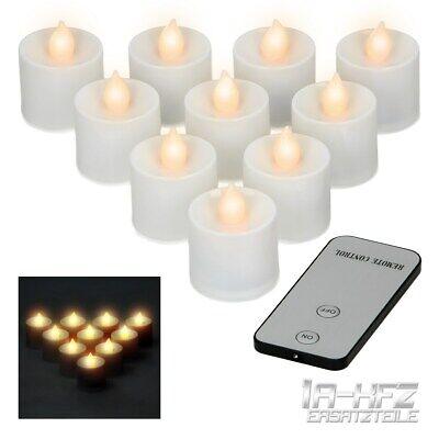 LED Teelichter Teelicht Flammen elektrische mit Fernbedienung Batterie Warmweiß ()