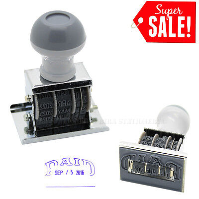 Paid Rubber Manual Set Date Stamp for Business Office Store Use 1 3/4 Inch 16-27 Date Postage Stamps