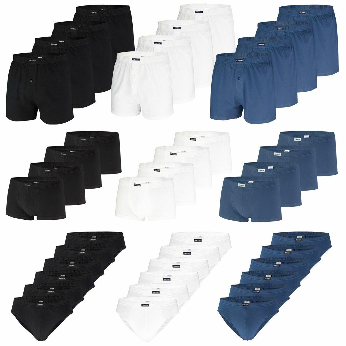 bequeme Herren Slips Pants Boxershorts von CECEBA Baumwolle | auch in Übergrößen