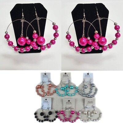 12Pairs Wholesale Women Earrings Lot Metal Beads Hoops Hook Drop Dangle Jewelry