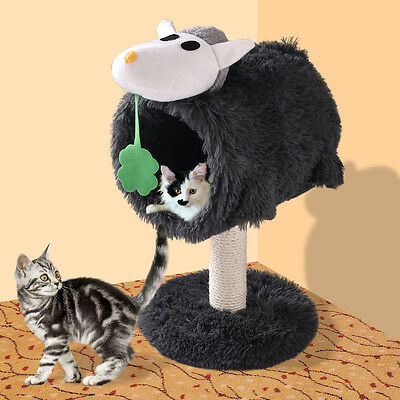Deluxe Cat Tree Condo Scratch Post Furniture Play Toy Kitten Pet House Bed