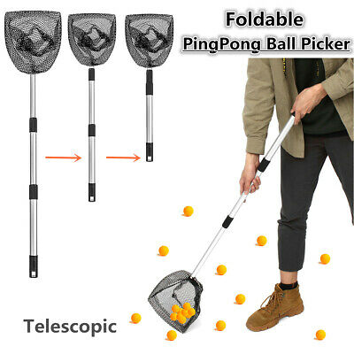 US Telescopic PingPong Pick Up Net Table Tennis Hand Ball Picker Catch Foldable Ball Catch Net