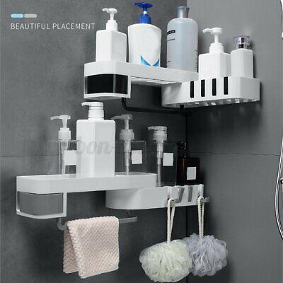 Wall Mounte Bathroom Shower Cay Shelf Bath Storage Holer Organizer Rack Bath