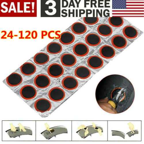 Motor Bike Tyre Tire Bicycle Inner Tube Patches Puncture Rubber Repair Kit 95 US
