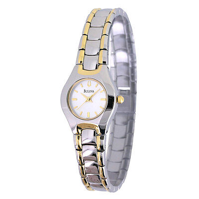Bulova Women's 98T84 Quartz Silver-Tone and Yellow Gold Tone Bracelet 15mm Watch