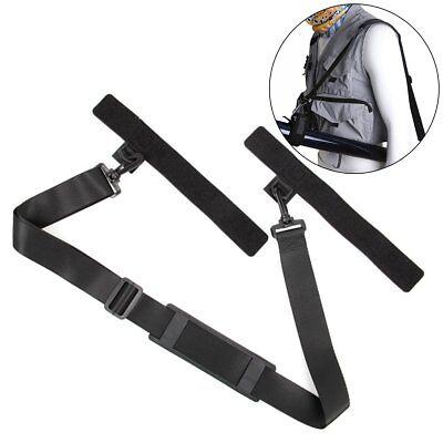 Fishing Rod Carry Strap Sling Band Adjustable Shoulder Belt Tackle Holder - Rod Sling