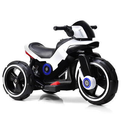Kids Ride on Motorcycle 6V Bicycle 3 Wheels Electric Battery Powered Toy w/ MP3