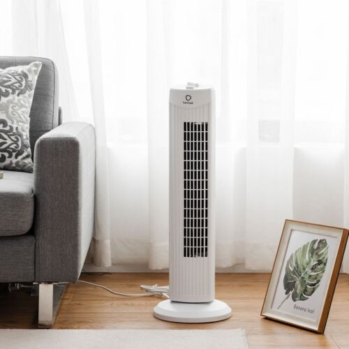"""Fantask 35W 28"""" Quiet Home Room Bladeless Oscillating Stand"""