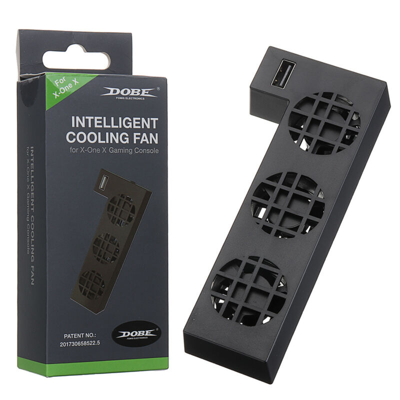 USB External Cooler Cooling Fan 3 Radiator Fans for Xbox one X Game Console  US